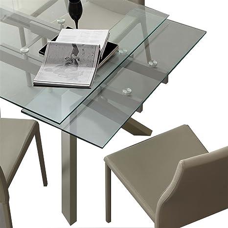 Emporio3 Tavolo da cucina allungabile in vetro Tricorno - SG710 ...