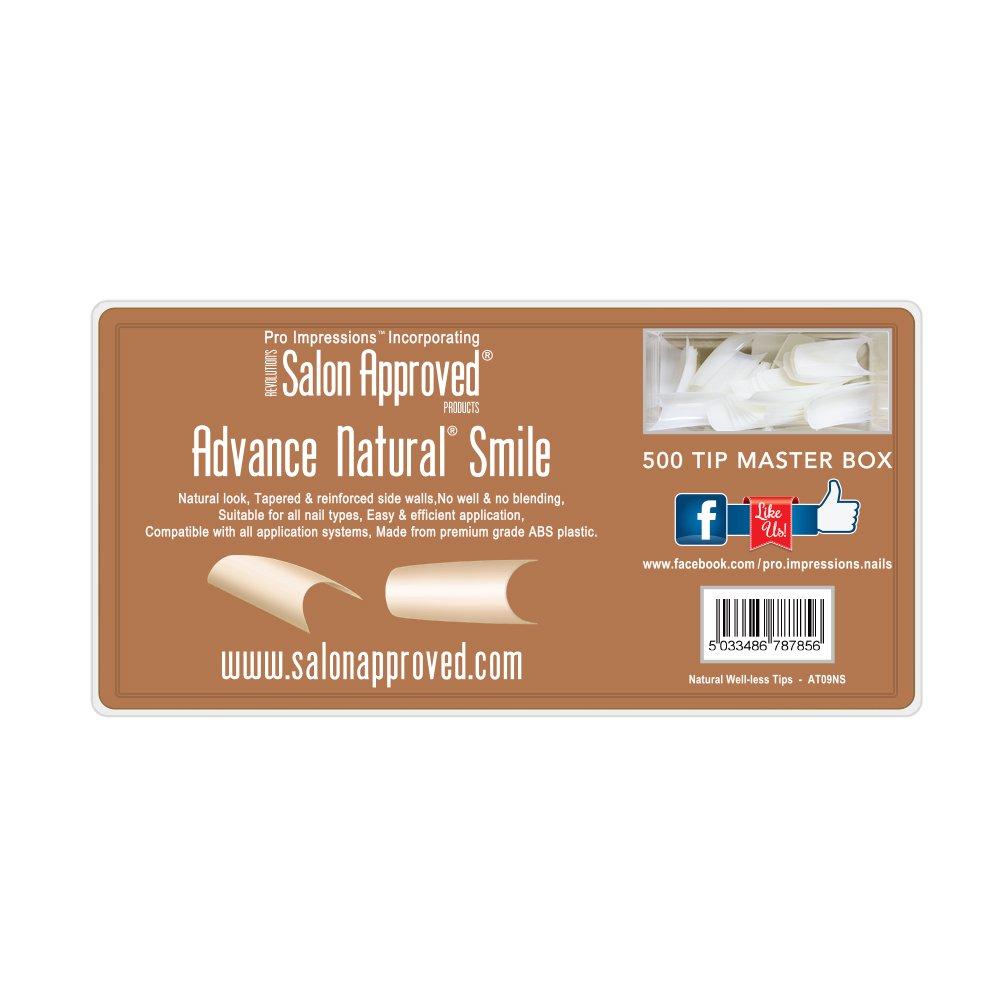 Advance Natural Smile Nail Tips Proimpressions (500 TIPS): Amazon.co ...