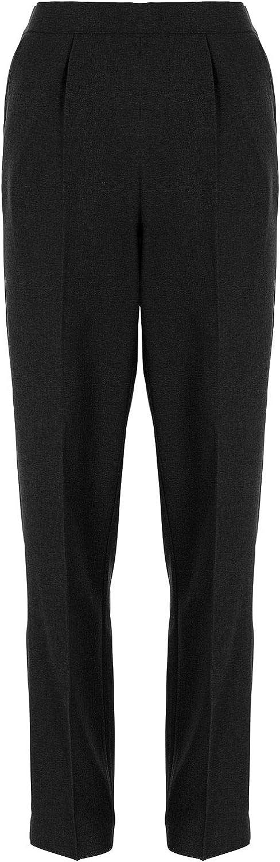 27 inch Leg Kirkwood Of Scotland Ladies Elasticated Waist Trousers Half Stretch Waist Casual Office Work Plus Big Size 8-24 Regular