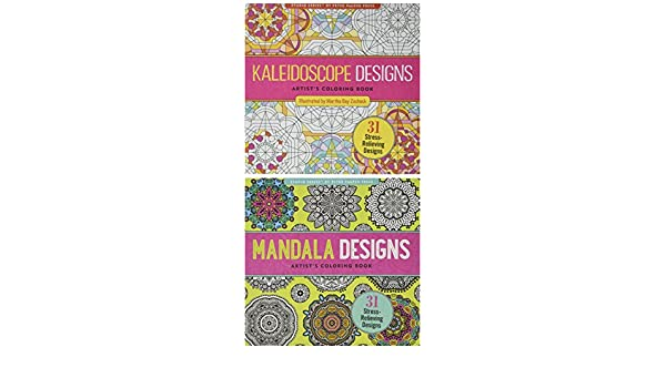 Adulto Coloring Book Value Pack (Kaleidoscope & Mandala 2 unidades ...