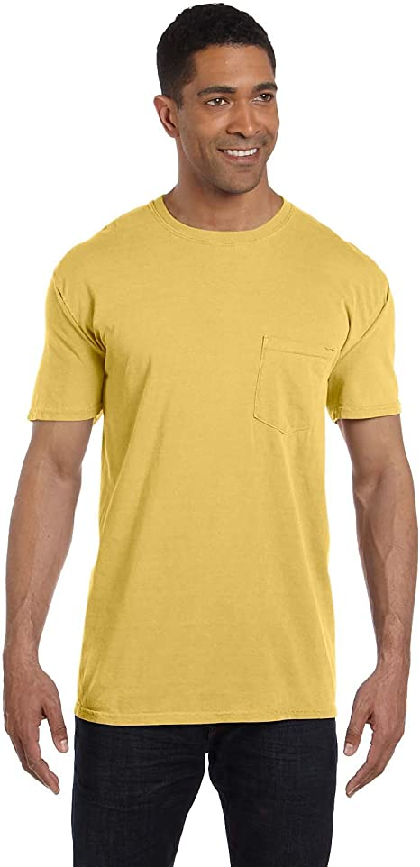 Comfort Colors 6.1-Ounce Garment-Dyed Pocket T-Shirt Red XL