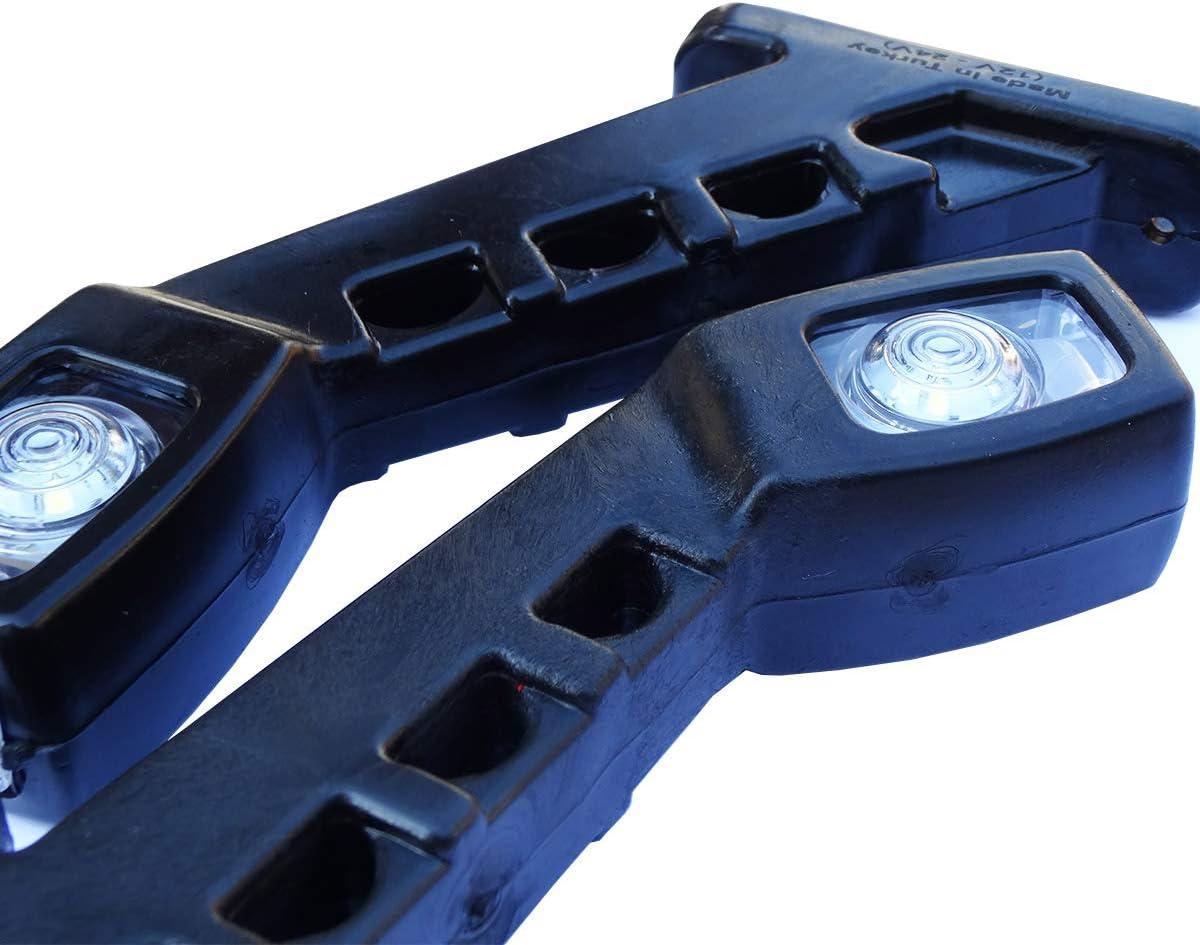 E-mark Feux de position Feux de position Camion Marquage lat/éral Lot de 2 feux de d/élimitation LED 12 V//24 V Feux de position