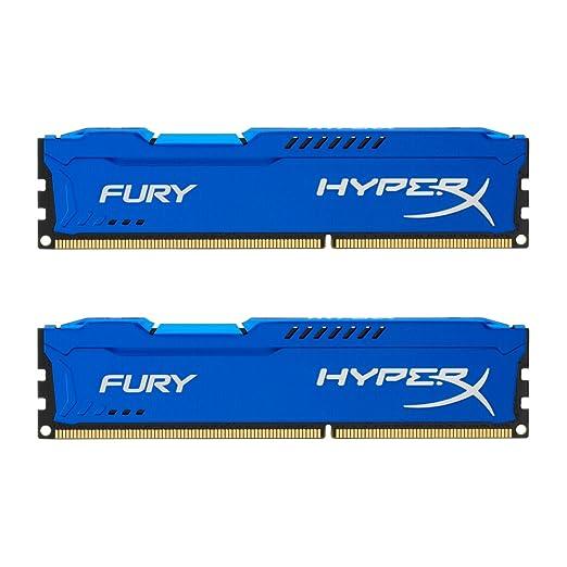 477 opinioni per Kingston HyperX Fury- Memoria RAM DDR-III, Blu, 8 GB, confezione da 2 x 4 GB