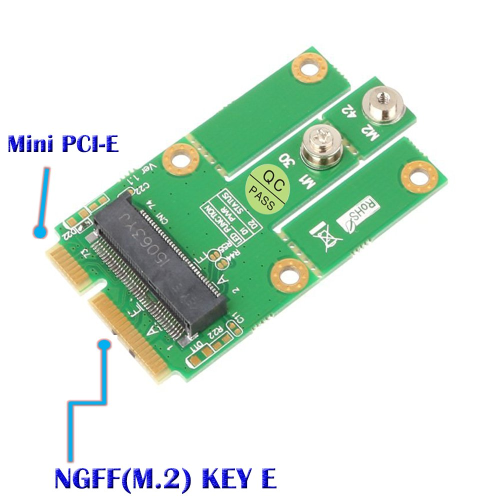 Adaptador SUPERPLUS M.2 (NGFF KEY E) a MPCIe (PCIe + USB)