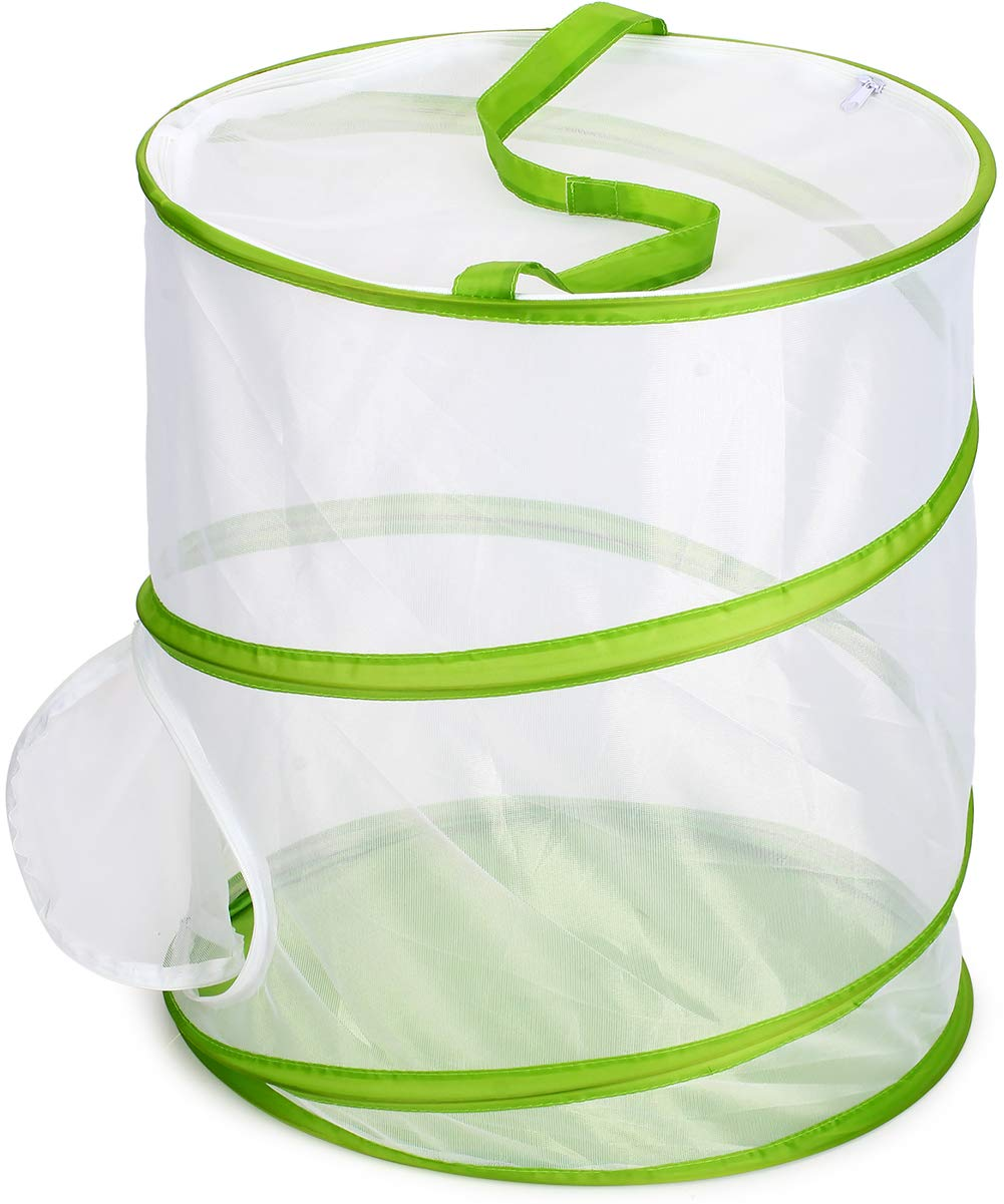 RESTCLOUD Insect and Butterfly Habitat Cage Terrarium Pop-up 12'' x 14'' Tall