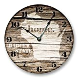 Cheap WISCONSIN STATE HOMELAND CLOCK -BADGER STATE – Large 10.5″ Wall Clock – Printed Wood Image- WI_FT