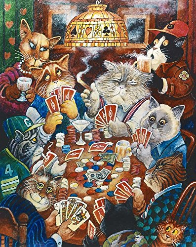 - Poker Cats by Bill Bell Art Print, 14 x 17 inches