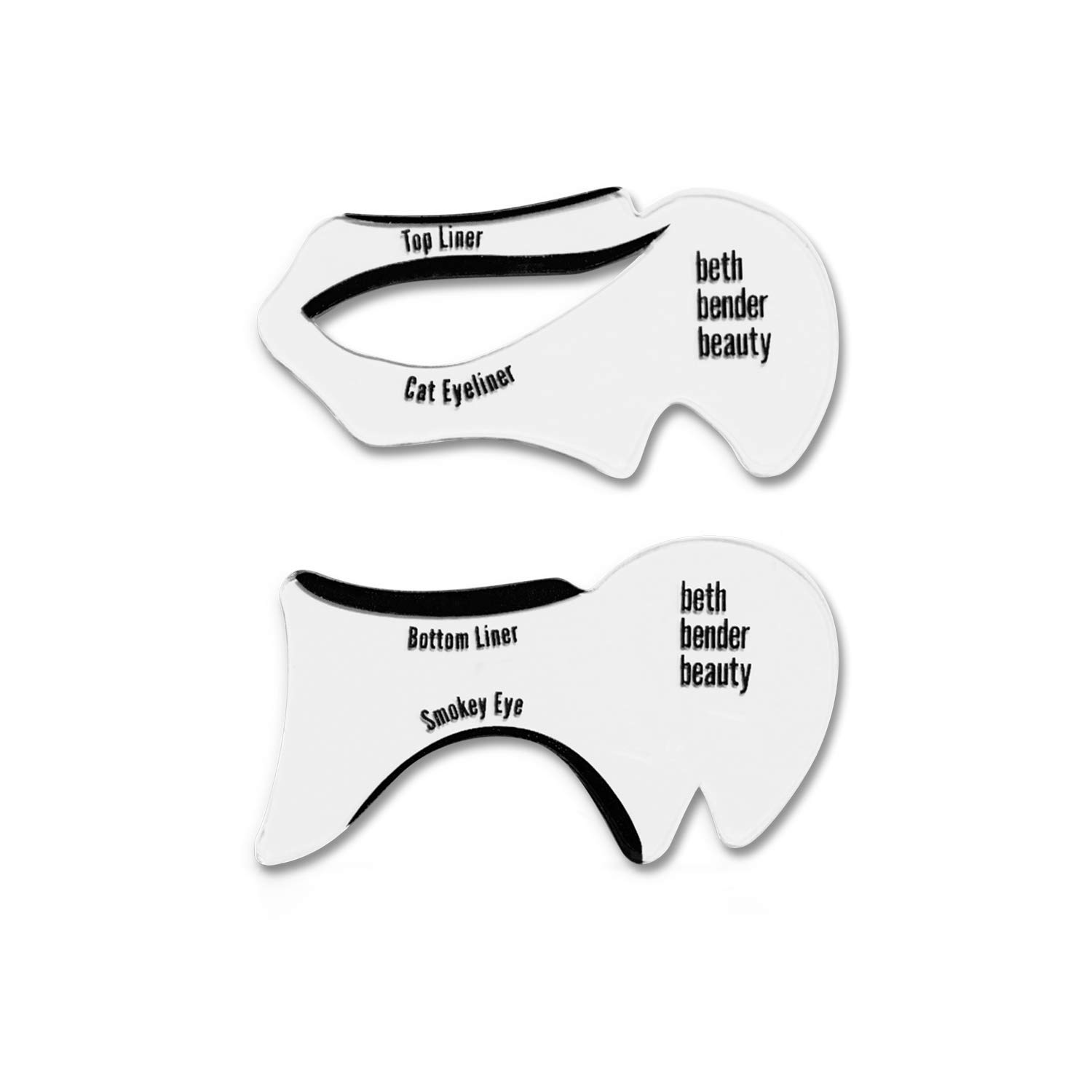 Eyeliner Stencil - For Perfect Smokey Eyes or Winged Tip Look. Created by Celebrity Makeup Artist. Reusable, Easy to Clean & Flexible. Cruelty Free & Vegan, Made in USA (Cat Eyeliner + Smoky Eyeliner)