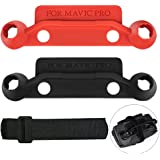 JJCALL 2 Packs Upgrade Version Transmitter Controller Stick Thumb Protective Clip Rocker with Screen Protector for Dji Mavic Pro (Red and Black)