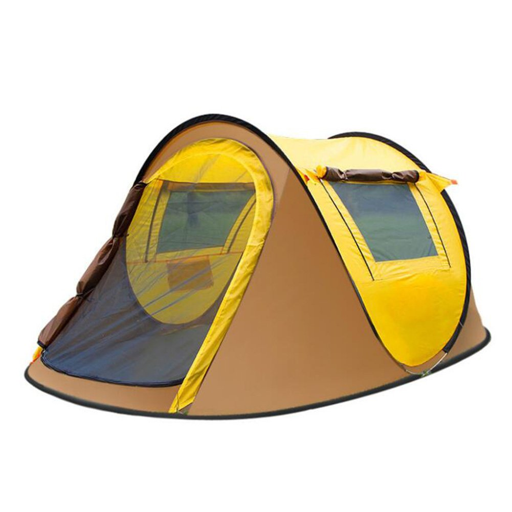 3-4 Personen Außenzelt Automatische Feld Camping Zelt Doppel Regen 2 Sekunden Offenes Zelt Wasserabweisend Instant Tourer Unisex Outdoor Pop-up-Zelt