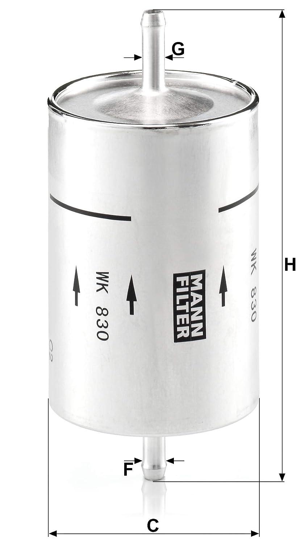 Pour v/éhicules particuliers Original MANN-FILTER Filtre /à carburant WK 830