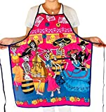 Day of the Dead Apron- Pink ''Mariachis Fiesta'' for Women