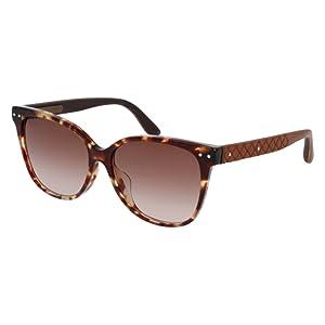 Sunglasses Bottega Veneta BV 0044 SA BV 0044 44 SA SA 44 AVANA / BROWN / BROWN