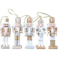 Kerst Notenkraker Ornamenten Set, Klassieke Houten Notenkraker Figuren Soldaat Marionet Hanger Speelgoed Voor Kerst…
