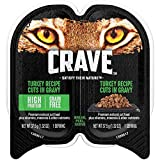 Crave Grain Free Adult Wet Cat Food Turkey Recipe Cuts In Gravy, (24) 2.6 Oz. Twin-Pack Trays Larger Image