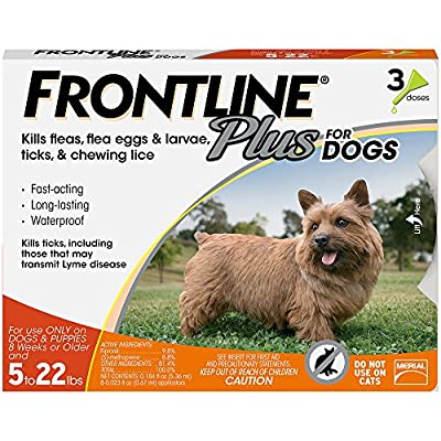 Frontline Plus for Dogs Small Dog (5-22 pounds) Flea and Tick Treatment
