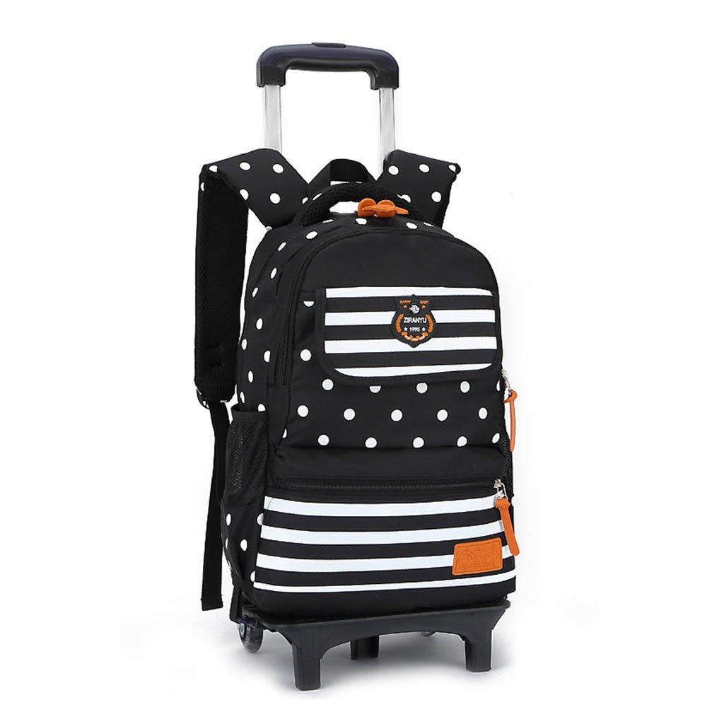 Rollbarer Rucksack - Durable Rolling Daypack Trolley Rucksack Schultasche Kinder Reisetaschen (2 Räder)