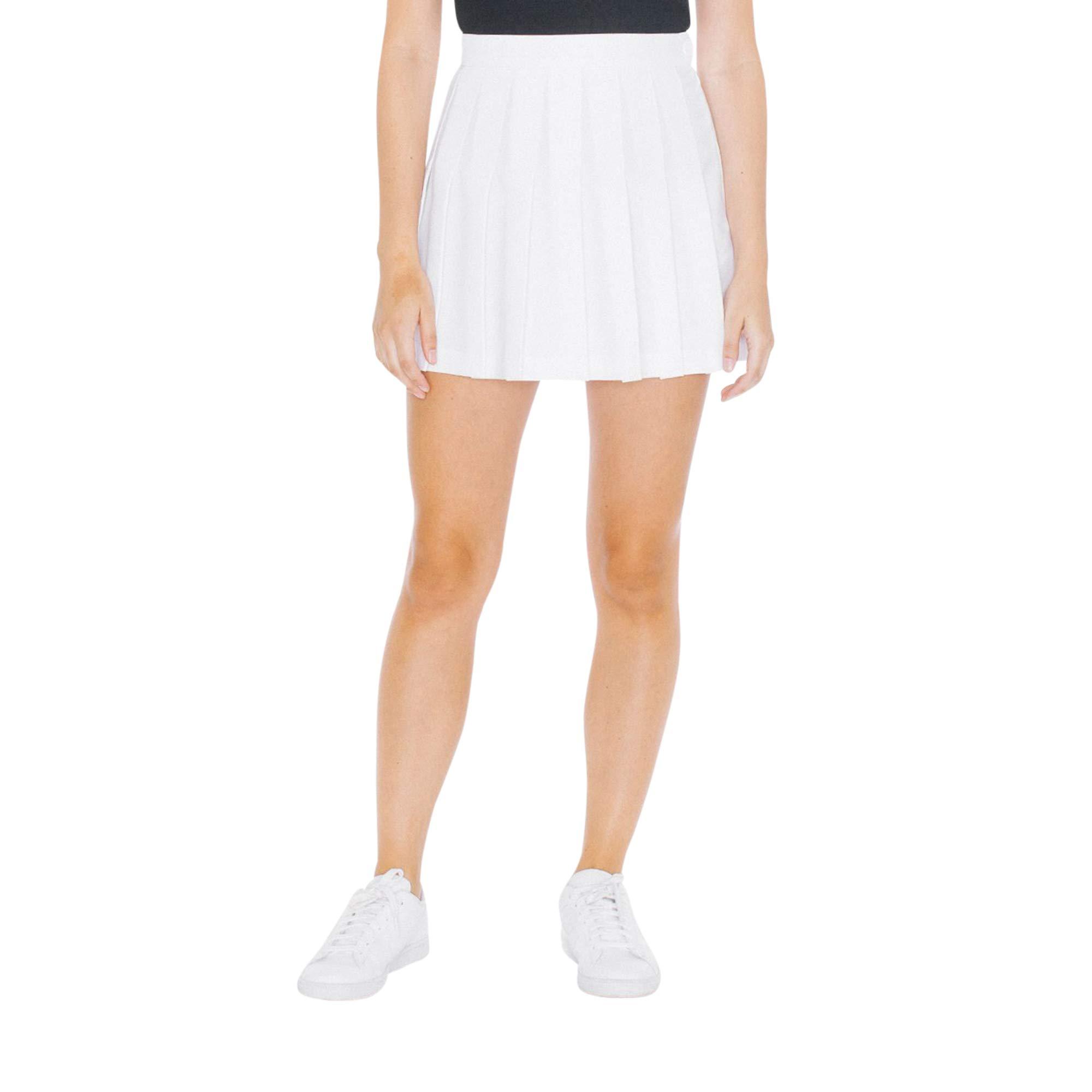 American Apparel Women's Gabardine Tennis Skirt, White, X-Small by American Apparel