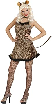 Leopardo Disfraz Mujer Leopard Disfraz Sexy Leo vestido Pajarita ...