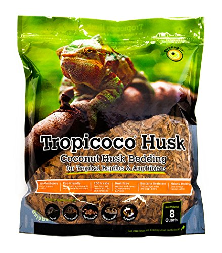 Galapagos (05014 Tropicoco Coconut Husk Bedding, 8-Quart, Natural