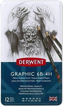 Derwent Graphic Medium 12 Pencil Tin