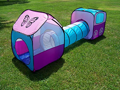 Girls Pop up Play Tent Set with Tunnel, Play Ground, Room, N