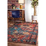 nuLOOM Distressed Tribal Lavonna Rug, 8' X 10', Multicolor