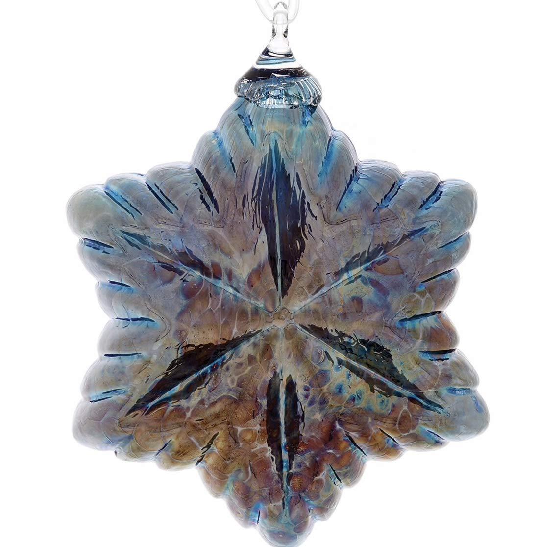 Glass Eye Studio Vintage Star Ornament (Tinsel Blue)