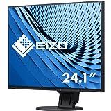 EIZO EV2457-BK 61.2厘米(24.1英寸)超薄显示器(DVI-D,HDMI,USB 3.1,DisplayPort,DaisyChain,5毫秒响应时间,1920 x 1200分辨率)黑色