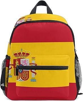 DEZIRO Bandera de España Basic Multipurpose Mochilas Niñas School ...