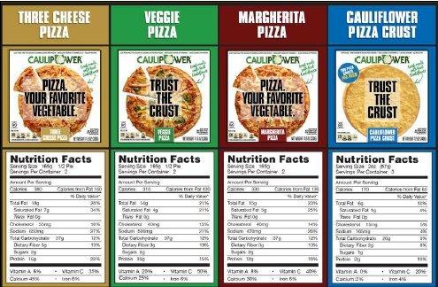 CAULIPOWER Cauliflower-Crust Pizza, Variety Pack - 1 Cheese, 1 Margherita, 1 Veggie, 2 Crusts