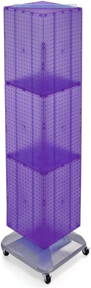 Azar Displays 701465-WHT Standard Four-Sided Interlocking Pegboard Floor Display