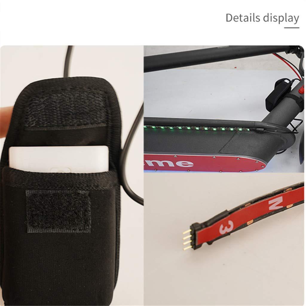 Faltbare LED leuchten Bunte Festzelte ningxiao586 LED Streifen Lichter kompatibel f/ür Xiaomi M365 Elektroroller