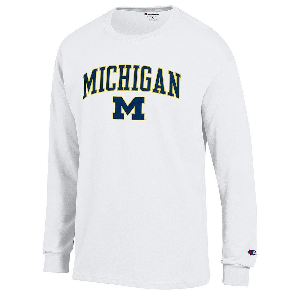 Elite Fan Shop NCAA Mens Long Sleeve Shirt White Arch