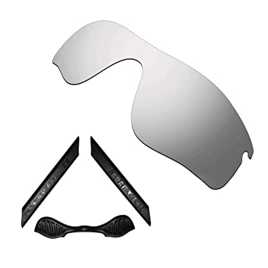 9ae6749f4d2 Image Unavailable. Image not available for. Color  HKUCO For Oakley Radarlock  Path Silver Polarized Replacement Lenses And Black ...