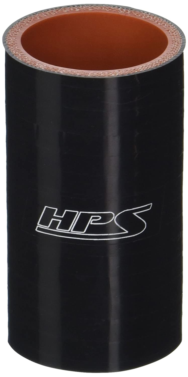 HPS HTSC-138-BLK Silicone High Temperature 4-Ply Reinforced Straight Coupler Hose, 100 PSI Maximum Pressure, 3' Length, 1-3/8' ID, Black 3 Length 1-3/8 ID HPS Silicone Hoses