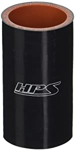 """HPS HTSC-138-BLK Silicone High Temperature 4-Ply Reinforced Straight Coupler Hose, 100 PSI Maximum Pressure, 3"""" Length, 1-3/8"""" ID, Black"""