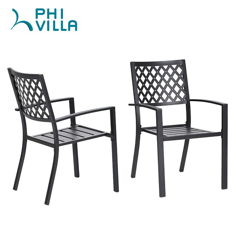 Amazon.com: PHI VILLA 059-01-SET 3501 - Silla de metal (2 ...