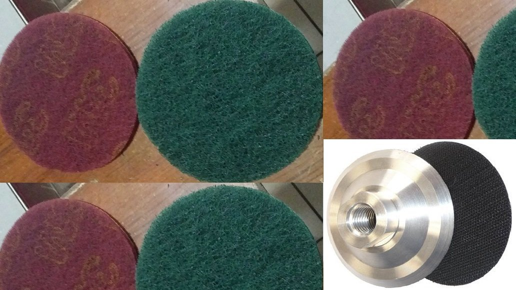 5 Inch Burnishing Pad 20+1 Pieces metal stainless steel polishing kitchen sink polishing aluminum burnishing bathtub polishing burnishing machine abrasive disc iron rust removal rust remove