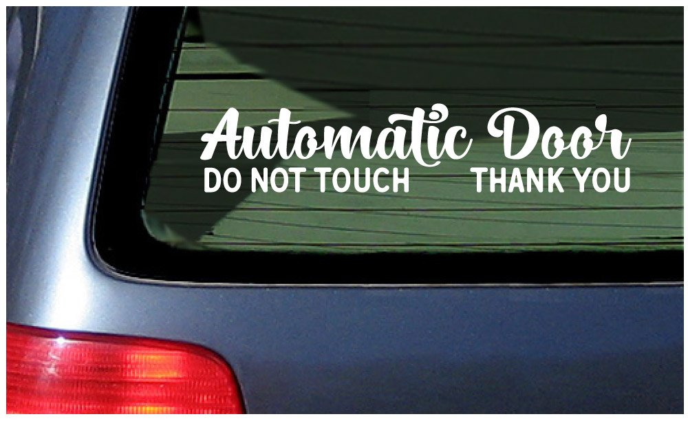 Two Automatic Door - Window Stickers Vinyl Decal - Please Do Not Touch  Sticker - for Van Windows, Taxi, Ride Vehicle