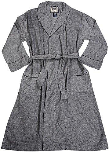 B O P J - Mens Long Sleeve Plaid Flannel (Father Christmas Robe)