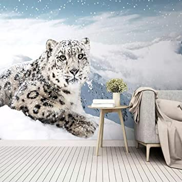 Amazoncom 3d Wallpaper Modern Simple Snow Leopard Photo