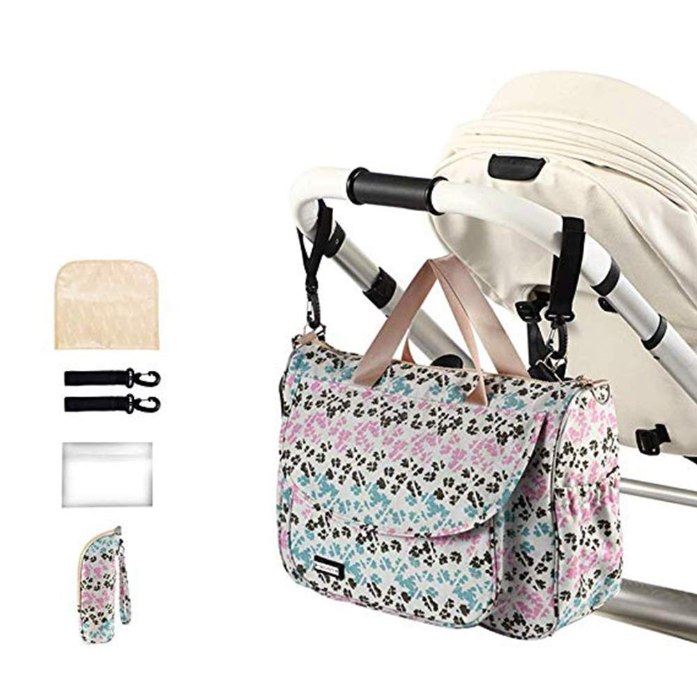 Baby Stroller Organiser Bag Pushchair Stroller Buggy Organiser Bag Diaper Bag Waterproof with 2 Stroller Shoulder Strap (Color : A, Size : 29x14x40cm)