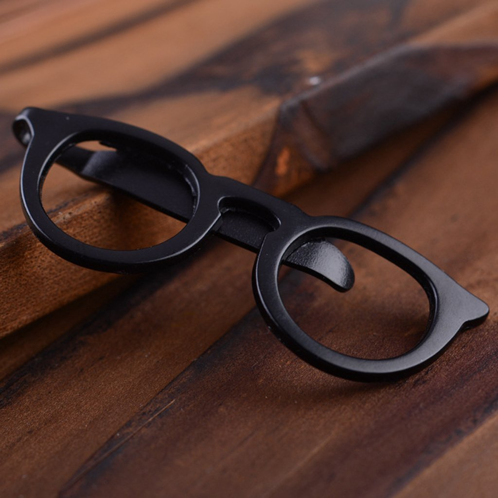LANDUM 1 Piece Tie Clip for Mens, Men Glasses Tie Bars Pin Clasp for Wedding Business Suit Tie Gift Accessories - Gold by LANDUM (Image #4)
