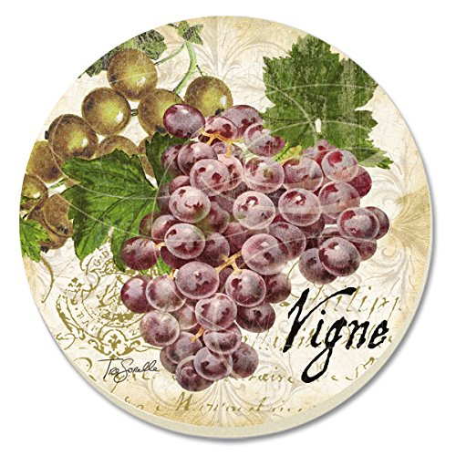 CounterArt Old World Fruit Grapes Absorbent Coasters, Set of 4 ()