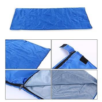 Lixada Saco de Dormir Ultra Ligero Multifuncional 180 * 75cm de Forma de Sobre para Acampada Senderismo al Aire Libre (Azul-2 (con Capucha)): Amazon.es: ...