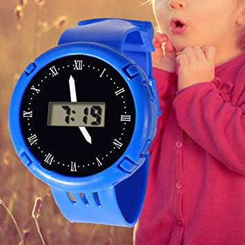 Amazon.com : Children Watches LED Digital Multifunctional Waterproof Wristwatches Outdoor Sports Watches for Kids Boy Girls reloj infantil (Blue) : Beauty