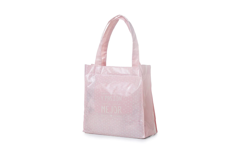 Bolsa mediana rosa amor/pasion