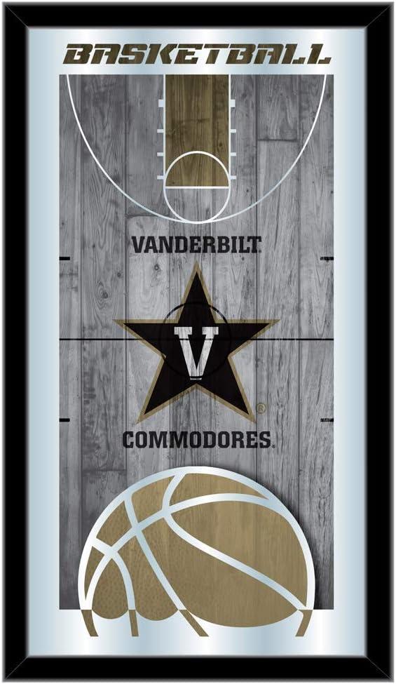 Holland Bar Stool Co. Vanderbilt Commodores HBS Basketball Framed Hanging Glass Wall Mirror (26