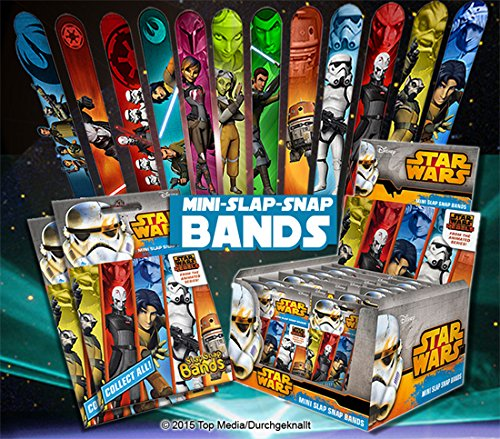 (CRAZE 51789 Mini Slap Snap Bands, Star Wars Rebels, Multi Colour)
